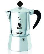 Bialetti Гейзерная кофеварка Break (0.12 л), на 3 чашки, черная