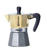 Bialetti Гейзерная кофеварка Allegra Petra Platino на 6 чашек (5683)