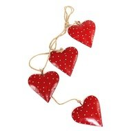 EnjoyMe Гирлянда подвесная Red Hearts, 4 шт.