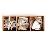EnjoyMe Украшения подвесные Silver Stars/Trees/Hearts, 24 шт.