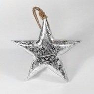 EnjoyMe Фигурка декоративная Snow Star, подвесная, 15х15х2.5 см
