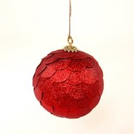 EnjoyMe Шар новогодний декоративный Paper ball, красный
