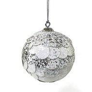EnjoyMe Шар новогодний декоративный Paper ball, серебристый мрамор
