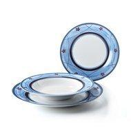 Fade Набор тарелок Blue Servizio Jardin, 18 пр.