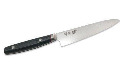 Нож универсальный, 12 смУниверсальные ножи<br>Универсальный нож - один из главных помощников на кухне, эффективен для самых разнообразных операций. Работы, связанные с чисткой, нарезкой, измельчением, шинковкой, а также фигурным нарезанием продуктов, выполняются именно при помощи универсального ножа.<br><br>Серия: Saiun Damascus