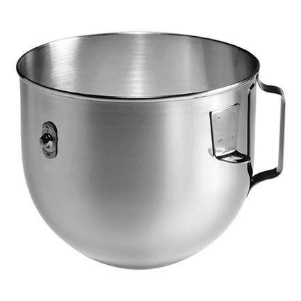 Дежа 5л, для 5KPM5, 5KPM50Насадки и Аксессуары<br>Удобная дежа с ручкой пригодится, если вы готовите сразу несколько блюд с помощью планетарного миксера. В этой емкости удобно смешивать тесто и жидкие продукты. Дежа из нержавеющей стали с плоским дном очень устойчива. Ее можно мыть в посудомоечной машине.<br>