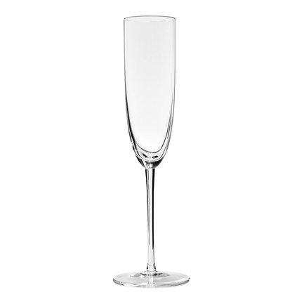 Бокал для шампанского Champagne (170 мл)Бокалы для шампанского<br>Объем бокала 170 мл, высота 24,5 см. Вкус легкого шампанского вина должен дополняться восхитительной игрой его пузырьков. Гармоничного сочетания двух составляющих вина – легкости и игристости, можно добиться в вытянутом бокале «флют» на тонкой высокой ножке.<br><br>Серия: Sommeliers