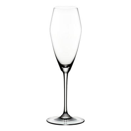 Набор бокалов для шампанского Champagne Glass (330 мл)Бокалы для шампанского<br>Объем бокала 330 мл, высота 25.4 см. Высокий бокал тюльпанообразной и вытянутой формы помогает шампанскому проявить свой утонченный аромат. Благодаря сужающейся кверху чаше именно в таком бокале концентрируется уникальная смесь ароматов этого вина. Пузырьки приятно подчеркивается мягкую структуру шампанского.<br><br>Серия: Vinum Extreme