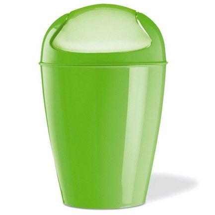 Ведро для мусора Del XL (5773568), 34х34х64.8 см (30 л), светло-зеленоеМусорные ведра<br>Ведро для мусора DEL XL изготовлено из высококачественного прочного пластика. Отличительной чертой этого незаменимого предмета является качающаяся крышка правильной формы. Широкая палитра ярких цветов добавит компонент оригинальности к вашему интерьеру.<br><br>Серия: Koziol Your Kitchen