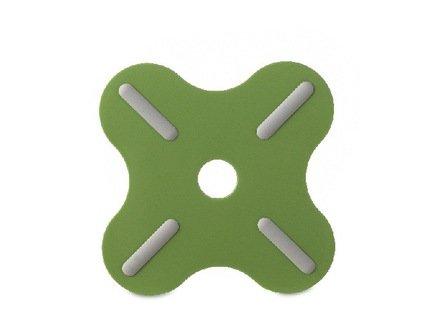 Подставка под горячее (106091094200), 19.5x19.5x0.8 см, темно-зеленая