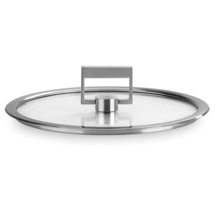 Крышка Стрейт-фикс, плоская из стекла, 16 см, с ручкой (K16SF) Cristel 00024539