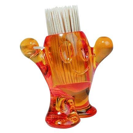 Подставка для зубочисток PICNIX (3014509), оранжеваяАксессуары для сервировки<br>Различные виды закусок и снеков - неотъемлемая часть сервировки фуршетов и пикников. Подставка для зубочисток в виде веселого человечка PICNIX станет оригинальной и стильной деталью сервировки, и непременно внесет элемент позитива в ваше настроение.<br><br>Серия: Koziol Your Kitchen