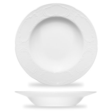 Тарелка глубокая утолщенная Mozart (0.33 л), 23.6х4.1 см, белая