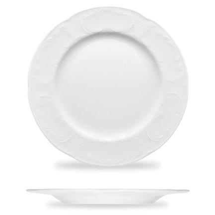 Тарелка Mozart, 20.4х1.9 см, белая