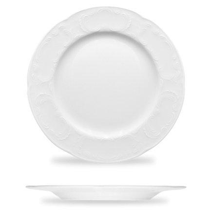 Тарелка Mozart, 24.9х2.2см, белая