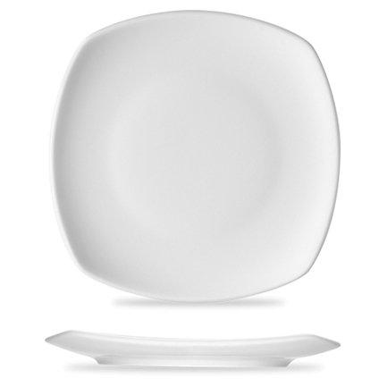 Тарелка квадратная Options, 27.6х2.6 см, белаяТарелки и Блюдца<br>Белоснежная квадратная тарелка подчеркнет торжественность вашей сервировки стола. На ней любые вторые блюда, закуски и десерты выглядят особенно привлекательно.<br><br>Серия: Options