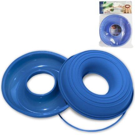 Форма для запекания круглая с отверстием, 24 cм, голубая