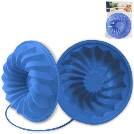 Форма Savarin 24 см, светло-синяяСиликоновые формы<br>Высота: 6 см, Объем: 1.25 л. Силиконовая форма отлично подходит для приготовления разнообразной выпечки и десертов. Готовые сладости вынимаются из гибкой и прочной формы очень легко, а во время приготовления не пригорают. Емкость может использоваться для традиционного приготовления выпечки в духовке и в микроволновой печи с фиксирующим кольцом, для охлаждения и замораживания десертов в холодильнике и морозильной камере.<br><br>Серия: Classic Range