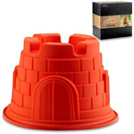 Форма Башня 20 см, красная, в подарочной упаковкеСиликоновые формы<br>Высота: 14 см, Объем: 2.5 л. Силиконовая форма отлично подходит для приготовления разнообразной выпечки и десертов. Готовые сладости вынимаются из гибкой и прочной формы очень легко, а во время приготовления не пригорают. Емкость может использоваться для традиционного приготовления выпечки в духовке и в микроволновой печи с фиксирующим кольцом, для охлаждения и замораживания десертов в холодильнике и морозильной камере.<br><br>Серия: Lets Celebrate