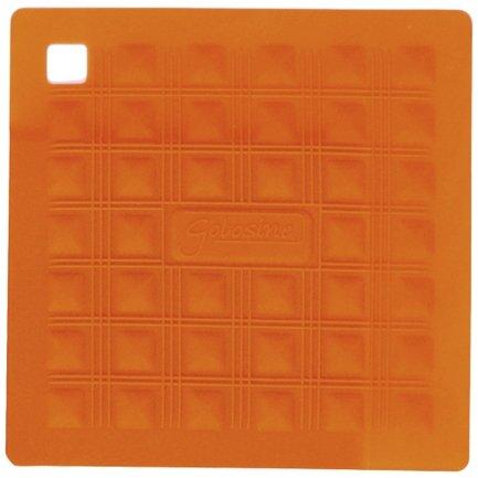 Прихватка-подставка для горячего, 17.5х17.5 см, оранжевая