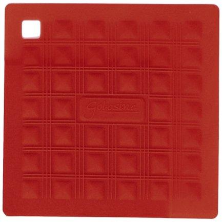 Прихватка-подставка для горячего, 17.5х17.5 см, красная