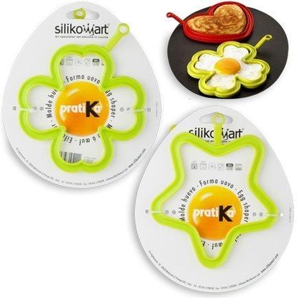 """Набор формочек для яичницы """"Звездочка"""" и """"Цветок"""" 2 шт., салатовые Silikomart EGGSET2D"""