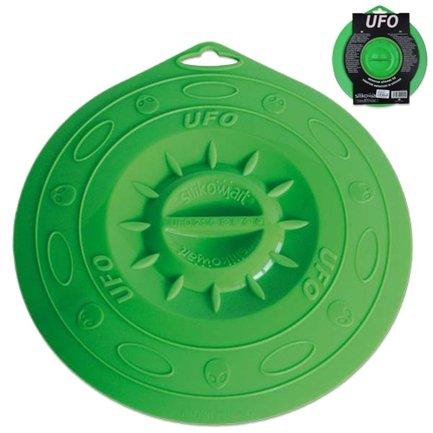 Крышка силиконовая, 21.5 см, зелёнаяКрышки<br>Эта необычная силиконовая крышка универсальна и практична. Ею можно накрыть любую посуду для хранения продуктов в холодильнике или разогрева в микроволновой печи. Накрывая посуду, гибкая крышка очень плотно притягивается к ней, создавая эффект вакуума.<br><br>Серия: UFO
