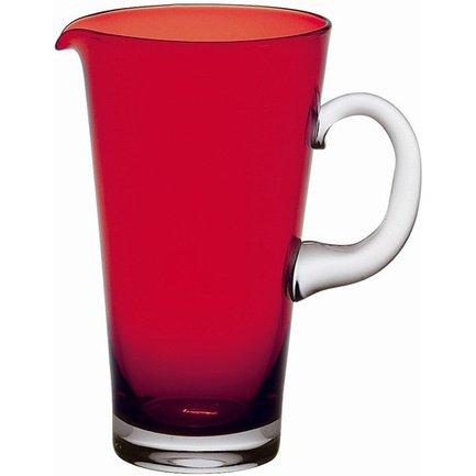 Кувшин (1.35 л), красныйКувшины<br>Изящный и вместительный кувшин необходим для подачи вин и разнообразных прохладительных напитков. Классическая форма кувшина подойдет для любой сервировки. Вино, поданное к столу в таком сосуде, насыщается кислородом и раскрывает полноту своего вкуса и аромата. Декантация вина в кувшине изменяет его вкус в лучшую сторону.<br><br>Серия: Nadia