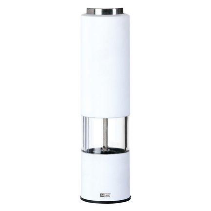 Автоматическая мельница для соли или перца Tropica (EP23), 5х21.5 см, белая