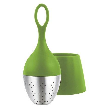 Ситечко для заваривания чая Floatea (TE02), 13 см, зеленое