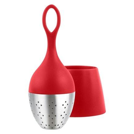 Ситечко для заваривания чая Floatea (TE05), 13 см, красное