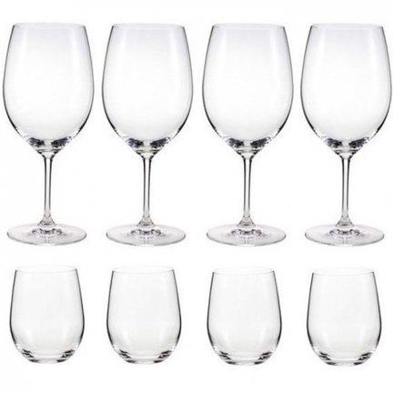 Набор бокалов для красного и белого вина Pay 4 Get 8 Bordeaux/Viognier, 8 шт.Бокалы для красного вина<br>Элегантный и универсальный набор, в который входят 4 бокала для красного вина и 4 бокала для белого вина, позволит вам почувствовать раскрывшийся вкус и аромат любимого виноградного напитка. Это отличный вариант для компании любителей и ценителей вина.<br><br>Серия: Vinum<br>Состав: Бокалы для красного вина арт. 416/0 (610 мл), 22.5 см - 4 шт., Бокалы для белого вина арт. 414/05 (320 мл), 9.6 см - 4 шт.