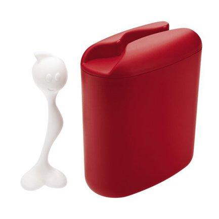 Контейнер для хранения продуктов HOT STUFF (3058583), 8.5х17х20 см (0.5 л), красный Koziol 004.110100.003