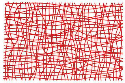 Подстановочная салфетка SILK (3090536), 45х32 см, красная Koziol 004.080200.003