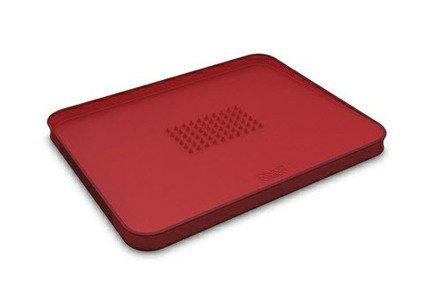 Поднос для сервировки и разделывания, 37.5х29.5 см, красный