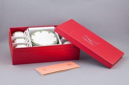 Набор чашек Лазурит на 6 персон, 12 пр.Чашки и Кружки<br>Элегантный набор чашек из 12 предметов на 6 персон. Идеален для торжественной сервировки стола. Каждая чашка в наборе выполнена с прекрасным вкусом и изяществом. Тонкое исполнение подчеркивает удивительную природную красоту фарфора.<br><br>Серия: Лазурит<br>Состав: Чашка чайная - 6 шт., Блюдце чайное - 6 шт.