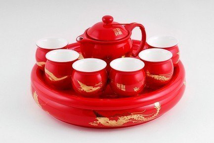 Набор для чайной церемонии Красный, 8 пр.