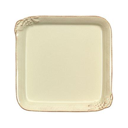 Тарелка квадратная Mediterranea, 22x22 см, кремовая
