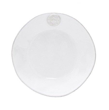 Тарелка Nova, 21 см, белая, покрытие глазурь