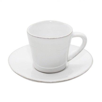 Кофейная пара Nova (70 мл), белая, покрытие глазурьЧашки и Кружки<br>Небольшая кофейная чашка и элегантное блюдце – прекрасный способ подать утренний кофе. Изготовленная из тонкой керамики кофейная пара изящно смотрится и обладает отменными практичными качествами. Вы можете не бояться повредить, например, ручку чашки неосторожным движением, ведь керамика не так хрупка, как фарфор. Вы можете подарить кофейную пару любителю этого напитка и это, безусловно, будет высоко оценено.<br><br>Серия: Costa Nova Nova