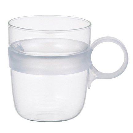 Кружка Drop (0.26 л), 7.5х10.6 см, прозрачныйЧашки и Кружки<br>Стеклянные кружки Drop подходят для любых холодных напитков: соков, воды, сиропа, молока, чая, какао. Они изготовлены из термостойкого стекла, имеют несколько цветовых вариаций. Яркий акцент этой серии кружек - красочные прозрачные ручки. Ручка идеально ложится в руку, так что даже полная до краев кружка не выскользнет из пальцев.<br><br>Серия: Drop