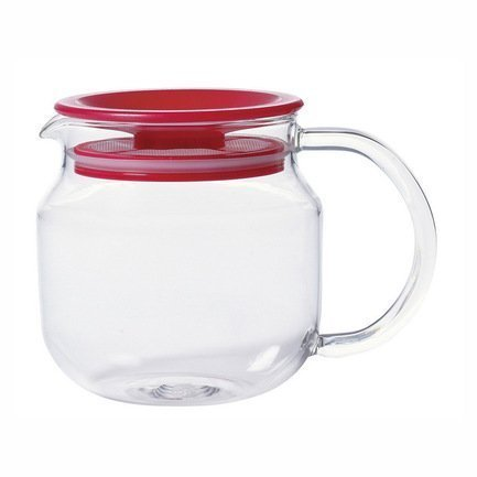 Чайник One touch (0.45 л), 8х12 см, красныйЗаварочные чайники и Кофейники<br>Этот чайник очень эргономичен и занимает минимум пространства. Фильтр расположен в крышке, что позволяет заварить большее количество чая. Крышка-фильтр плотно закрывается, поэтому чай заваривается почти моментально. Этот круглый стеклянный чайник очень удобен в использовании, имеет большую ручку. Только выберите нужный объем, в зависимости от величины вашей компании, и наслаждайтесь чаем.<br><br>Серия: One touch Teapot