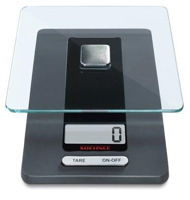 Весы кухонные Fiesta, 20х11.5х2.9 смВесы кухонные<br>Стильные кухонные электронные весы в корпусе из прочного бытового пластика очень практичны. Их платформа для взвешивания, изготовленная из высокопрочного стекла, съемная. Весы имеют ЖК-дисплей, на который выводятся результаты измерений.     Характеристики:   Предельно допустимый вес: 5 кг  Точность: 1 г  Автоматическое выключение  Индикация заряда батареи  Индикация перегрузки<br><br>Серия: Soehnle