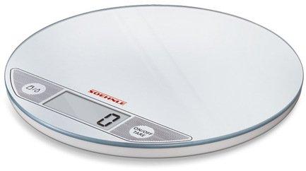 Весы кухонные Flip white, 20х1.5 см, белые