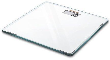 Весы напольные Slim Design, 33x1.8x33 см, белыеВесы напольные<br>Ультратонкие напольные электронные весы предназначены для домашнего использования. Весы выполнены в стильном и элегантном дизайне. Устойчивая платформа изготовлена из прочного безосколочного стекла белого цвета. Весы высокоточные, они оснащены дисплеем для вывода результата взвешивания. Для включения не нужно становиться на платформу – встроенный датчик активации включает весы автоматически.     Характеристики:   Максимальная нагрузка: 150 кг  Цена деления: 100 г  Автоматическое включение  Автоматическое выключение<br><br>Серия: Soehnle