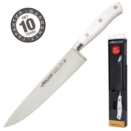 Нож поварской Riviera Blanca, 20 смПоварские ножи<br>Любимый нож как начинающих, так и профессиональных поваров. Универсален в использовании и прекрасно сбалансирован. Может применяться для чистки, шинковки, нарезки, перерубания тонких косточек и прочих работ. Настоящая рабочая лошадка среди ножей.<br><br>Серия: Riviera Blanca