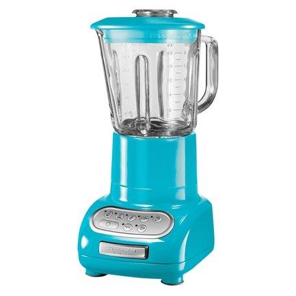Блендер, стакан стеклянный (1.5 л), 6 скоростей, Pulse, голубой кристалл, с доп. стаканом KitchenAid 5KSB5553ECL