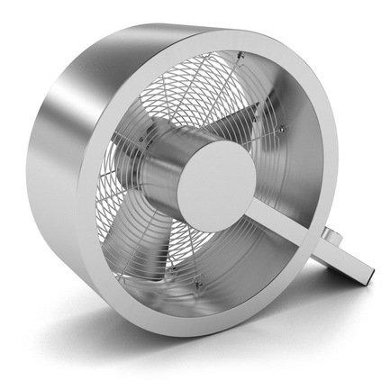 Вентилятор универсальный Q Fan, стальнойТехника<br>Яркая особенность этого компактного вентилятора – его стильный и современный дизайн. Его корпус из нержавеющей стали и металлические лопасти гарантируют надежность и долговечность прибора. Модель имеет 3 режима скоростей и механический тип управления. Прибор отличается небольшой мощностью и способен вентилировать помещение до 39 м.     Характеристики:  Высота: 36 см  Ширина: 43 см  Мощность: 40 Вт  Уровень шума: не более 70 дБ  Вес: 4 кг<br>