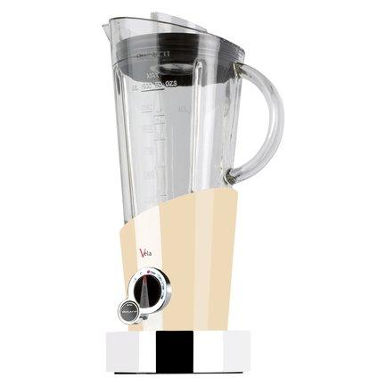 Блендер стационарный Vela, кремовыйБлендеры<br>Яркий и компактный блендер всего за несколько мгновений сделает молочный коктейль, превратит в пюре овощи и фрукты, взобьет десерты, доведет до нужной консистенции крем-супы. Блендер Vela надежен, прост и безопасен в обращении. Его стакан из ударопрочного стекла объемом 1.5 л удобен для взбивания больших порций продуктов. В комплекте с блендером идет лопатка, с помощью которой вы сможете аккуратно перемешать тесто или крем, и чашка-крышка с измерительной шкалой для засыпания ингредиентов. Функциональный блендер Vela выглядит очень стильно и будет замечательно смотреться на вашей кухне.<br><br>Серия: Vela
