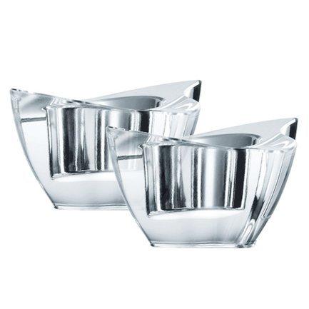 Набор из 2-х подсвечников Manhattan, 8 смПодсвечники<br>Невысокие подсвечники оригинальной формы способны создать необычайно уютную атмосферу в помещении или добавить романтичности сервировке стола. Поместите в них свечу, и комната наполнится спокойным и ровным светом, огонь будет сверкать и переливаться в прозрачных стенках из хрусталя.<br>